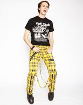 TRIPP NYC Printed Pants Tartan Other Check Patterns Unisex