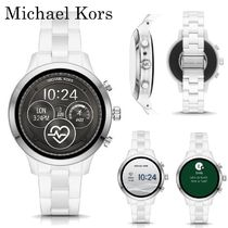 Michael Kors Round Ceramic Elegant Style Digital Watches