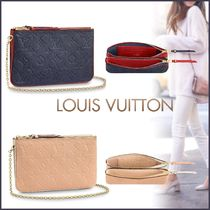 Louis Vuitton MONOGRAM Monogram Blended Fabrics Bi-color Chain Leather Accessories