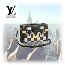 Louis Vuitton PETITE MALLE Other Check Patterns Blended Fabrics 3WAY Bi-color