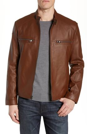 Plain Leather Jackets