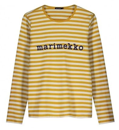 Stripes Long Sleeves Cotton T-Shirts