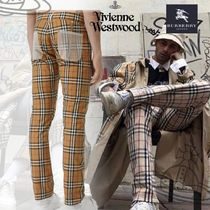 Burberry Printed Pants Other Check Patterns Cotton Patterned Pants
