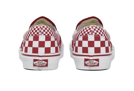 3630f4e419b VANS SLIP ON 2019 SS Gingham Casual Style Unisex Low-Top Sneakers ...