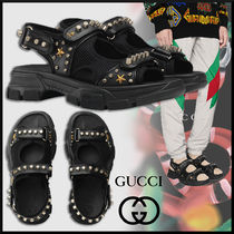 GUCCI Star Blended Fabrics Studded Street Style Leather