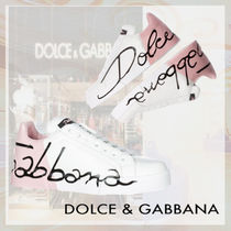 Dolce & Gabbana Rubber Sole Leather Low-Top Sneakers