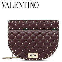 VALENTINO Dots 2WAY Leather Elegant Style Shoulder Bags