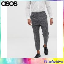ASOS Tapered Pants Other Check Patterns Wool Street Style