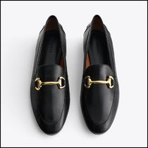 Uterque Black Leather Bit Loafers