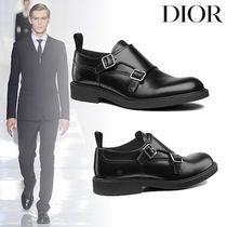 Christian Dior Monk Plain Leather Loafers & Slip-ons