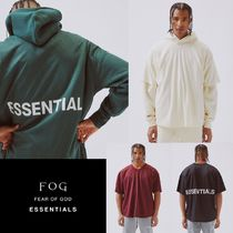 FEAR OF GOD ESSENTIALS Street Style V-Neck Short Sleeves V-Neck T-Shirts