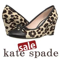 kate spade new york Leopard Patterns Elegant Style Wedge Pumps & Mules