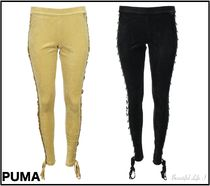 PUMA FENTY Casual Style Velvet Plain Long PUMA FENTY by Rihanna Bottoms