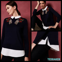 TED BAKER Flower Patterns Plain Elegant Style Shirts & Blouses