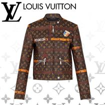 Louis Vuitton Short Monogram Blended Fabrics Street Style Leather