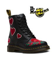 Dr Martens Heart Casual Style Leather Mid Heel Boots