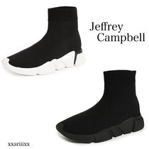 Jeffrey Campbell Rubber Sole Blended Fabrics Street Style Bi-color Plain