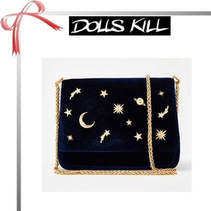 Star Casual Style Plain Shoulder Bags