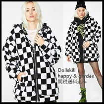 DOLLS KILL Other Check Patterns Casual Style Faux Fur Medium Oversized