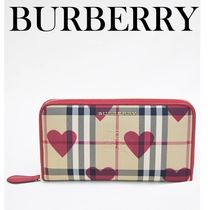 Burberry Other Check Patterns Long Wallets