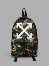 Off-White Camouflage Backpacks