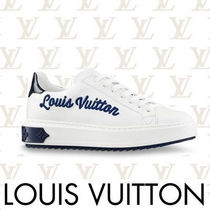 Louis Vuitton MONOGRAM Rubber Sole Casual Style Bi-color Leather Low-Top Sneakers