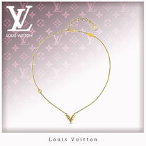 Louis Vuitton V Unisex Chain Elegant Style Necklaces & Pendants