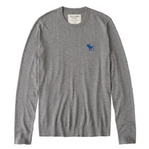 Abercrombie & Fitch Crew Neck Long Sleeves Cotton Knits & Sweaters
