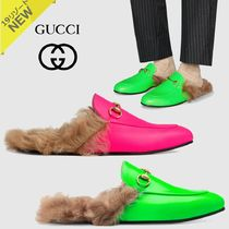 GUCCI Princetown Plain Toe Plain Leather Loafers & Slip-ons