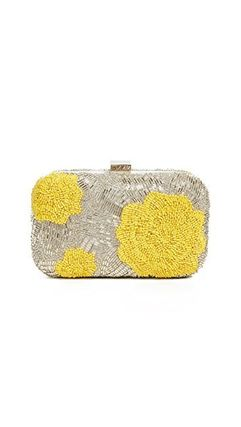 Flower Patterns 2WAY Party Style With Jewels Clutches