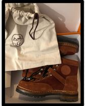 HERMES Mountain Boots Round Toe Casual Style Unisex Spawn Skin