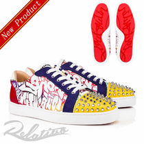 Christian Louboutin Studded Street Style Leather Sneakers