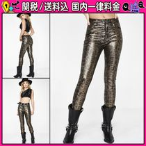 DOLLS KILL Casual Style Long Python Skinny Pants