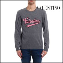 VALENTINO Crew Neck Wool Long Sleeves Sweatshirts