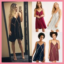 Free People Short A-line Sleeveless V-Neck Party Style Dresses