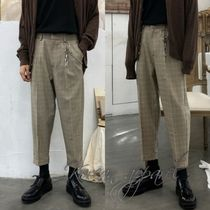 Slax Pants Glen Patterns Tartan Street Style Oversized
