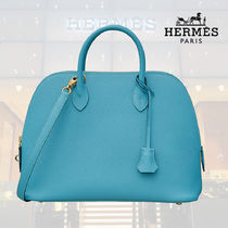 HERMES Bolide Blended Fabrics Street Style 2WAY Plain Leather