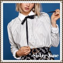 Sister Jane Stripes Long Sleeves Cotton Shirts & Blouses