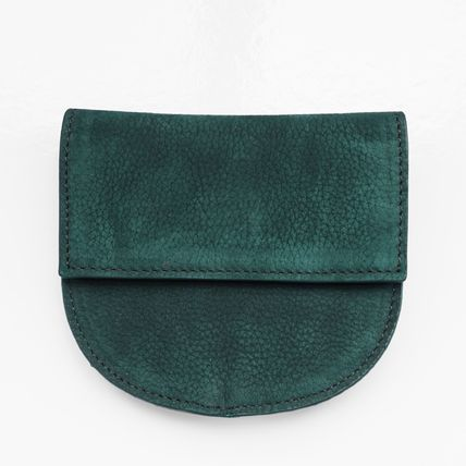 Unisex Plain Leather Coin Purses