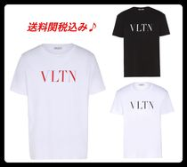 VALENTINO Crew Neck Unisex Street Style Cotton Short Sleeves T-Shirts