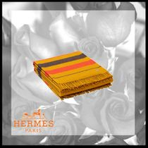 HERMES Stripes Street Style Fringes Throws