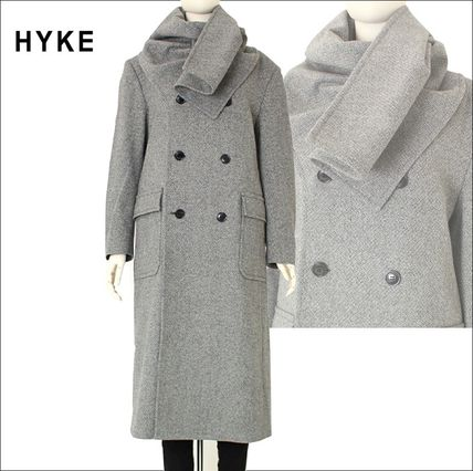 Casual Style Wool Plain Long Oversized Peacoats