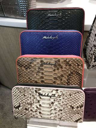 Leather Python Long Wallets