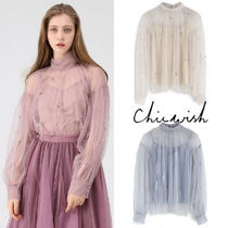 Chicwish Long Sleeves Plain With Jewels Elegant Style