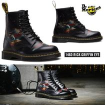 Dr Martens 1460 Round Toe Rubber Sole Lace-up Unisex Collaboration Leather