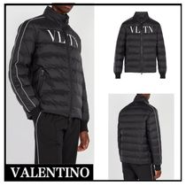 VALENTINO Short Street Style Plain Down Jackets