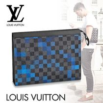 Louis Vuitton DAMIER GRAPHITE Other Check Patterns Canvas Street Style Bag in Bag 2WAY