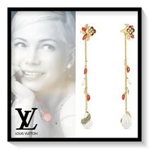 Louis Vuitton Blended Fabrics Flower Elegant Style Earrings & Piercings