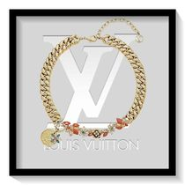 Louis Vuitton Blended Fabrics Flower Elegant Style Necklaces & Pendants