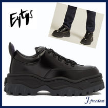Eytys Platform Round Toe Lace-up Casual Style Street Style Leather